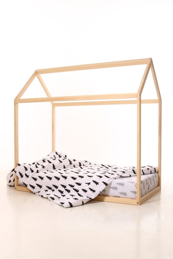190x90cm Lit Cabane Lit Montessori Montessori Bed House Bed Etsy