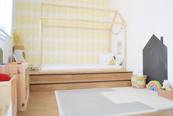 haus doppelbett holz bett zuhause kinderbett haus bett etsy. Black Bedroom Furniture Sets. Home Design Ideas
