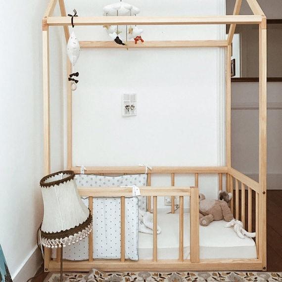 Twin Size Haus Bett Mit Zaun Haus Bett Kinderbett Beleuchteten Cabane Beleuchtet Montessori Haus Bettrahmen Kinder Tipi Kleinkind Haus Bett
