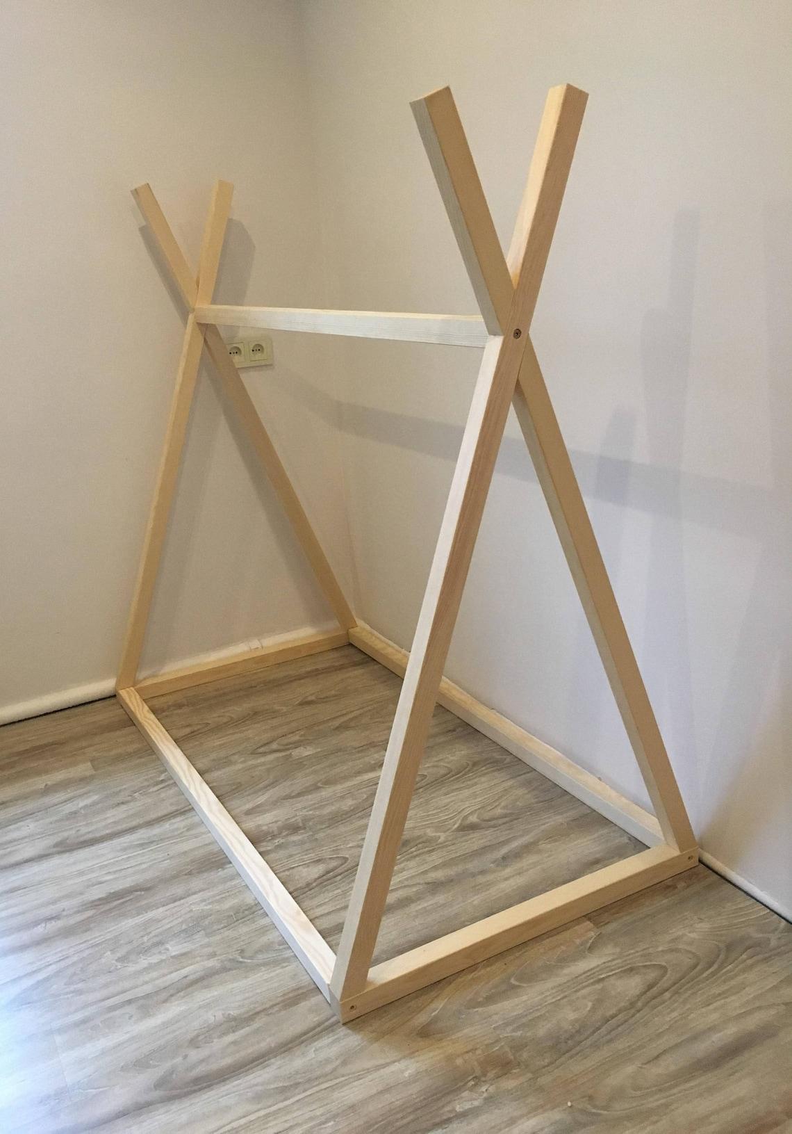 NEW! Bed teepee  70 x 140 cm , children bed, Toddler bed, kid bed, wood bed, Montessori floor bed, nursery crib, kids bedroom, floor bed