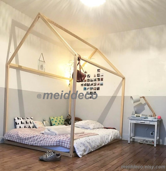 Twin Size Kids Nursery Bed Wooden House Children Bed House Etsy