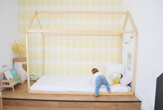 70 X 140 Cm Beleuchtet Cabane Kleinkind Bett Spiel Haus Etsy