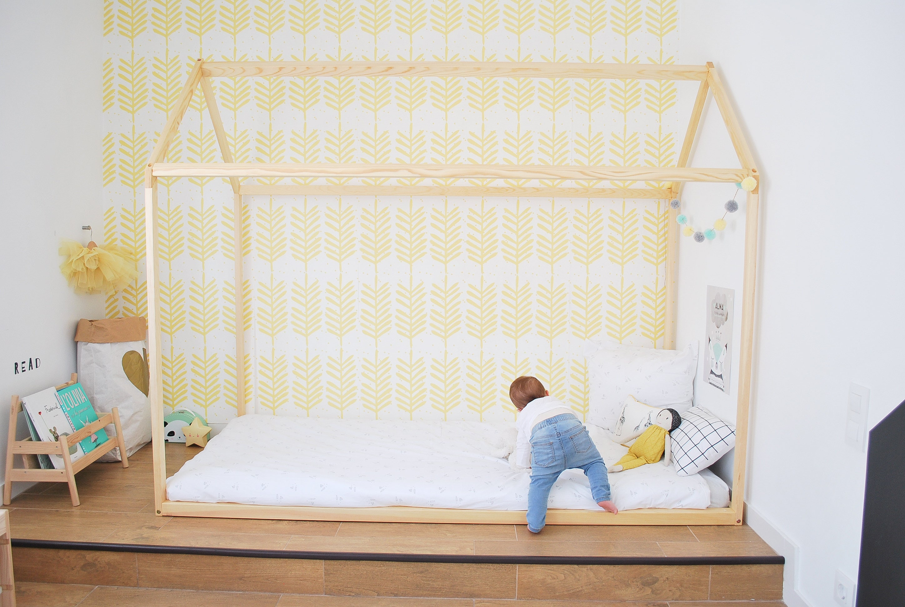 X Cm Lit Cabane Toddler Bed Play House Bed Frame Etsy - Lit cabane 140x190