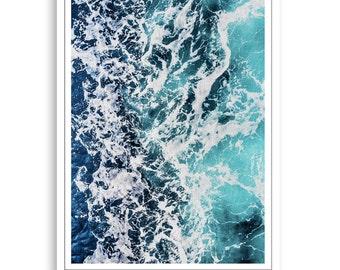 Ocean Print,Ocean Photo,Ocean Art,Ocean Printable,Ocean Water,Ocean Poster,Beach and Coastal Decor,Beach Decor Print,Beach Wall Art, Gift