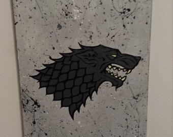 House Stark Banner Painting
