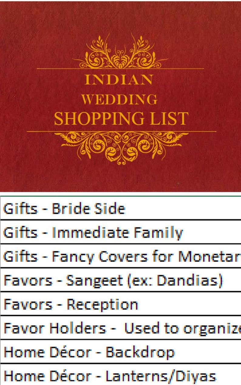 Indian Wedding Shopping List, Wedding Shopping List, Wedding Checklist,  Wedding Shopping Checklist, Wedding Shopping Guide, Shopping Guide