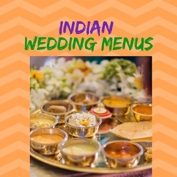 Indian Wedding Menu Indian Food Indian Food Menus Indian