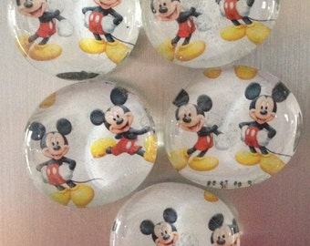 Mickey Mouse Refrigerator Magnets, Set of 5