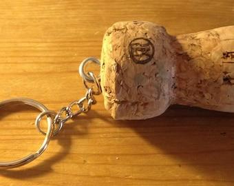Champagne Cork Key Chain