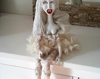 OOAK art doll Icicle, art doll, ooak doll, artist doll
