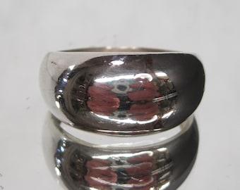 Vintage Sterling Silver Short Bubble Ring Sz 12 M542