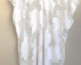 White leaves tunic/dress