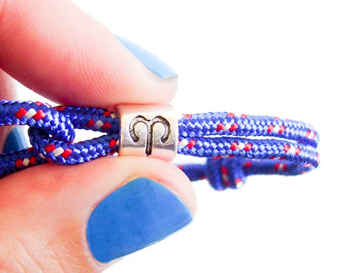 Men Birthday, Men Bracelet, Men Jewelry,  Zodiac Bracelet, Aries Jewelry