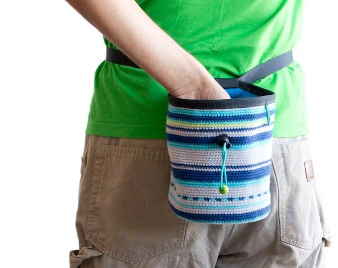 Chalk Bag for Rock Climbing. Bouldering Chalk Bag. Climbing Chalk Bag. Crochet, XL Size