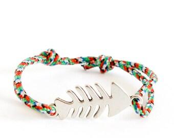 Summer Rope Bracelet, Summer Wrap Bracelet, Navy Bracelet for Summertime
