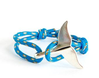 Mermaid Wrap Bracelet, Mermaid Dolphin Bracelet, Mermaid Tail Bracelet - Cuff Beach Jewelry Of Rope