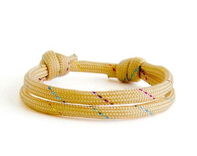 Guys Bracelet, Mens Cool Friendship String Rope Jewelry, Best Friend Gift. 4 mm