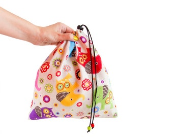 Reusable Bag. Rock Climbing Shoe Bag, Drawstring Pouch Eco Friendly Bag