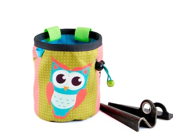 Chalk Bag Climbing, Rock Climbing Gifts, Rock Climbing Chalk Bucket, Size M