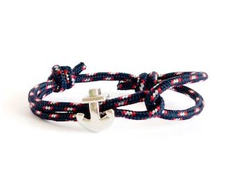 Anchor Bracelet For Men, Outdoor Gift. Climbing Rope Bracelet, Nautical Bracelet