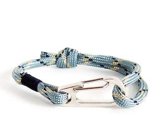 Infinity Bracelet Men, Anchor Bracelet Men, Mens Bracelet, Paracord Bracelet Unisex With Mini Carabiner. 4 mm
