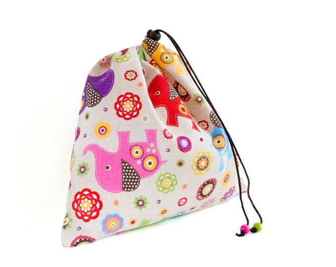 Toddler Bag. Lingerie Bag, Drawstring Toy Bag. Gifts For Girls. Shoes Bag