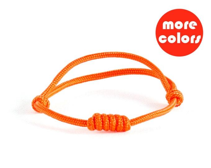 Survival Bracelet, Nautical Bracelet, Paracord Bracelet. Rock Climbing Jewelry. 3 mm