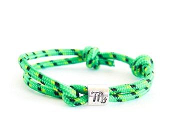Scorpio Jewelry, Scorpio Bracelet, Scorpio Constellation Jewelry, Zodiac Gift Guide. All Zodiac Signs Available. 3 mm