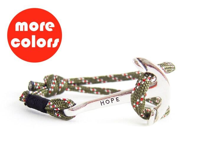 Mens Anchor Bracelet, Men's Anchor Rope Bracelet, Men's Bracelet with Anchor Clasp