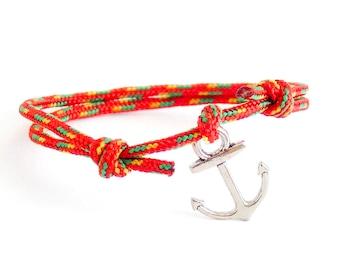 Summer Fashion Bracelet, Anchor Bracelet, Nautical Jewelry, Mens Anchor Bracelet. 2 mm