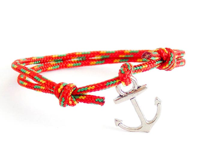 Summer Fashion Bracelet, Anchor Bracelet, Nautical Jewelry, Mens Anchor Bracelet