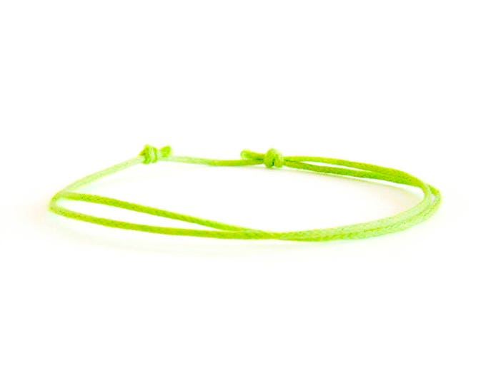 Slim Bracelet, Slim Cuff Bracelet, Slim Cord Bracelet With Knots. Mens Survival Tiny Paracord Jewelry. 1 mm