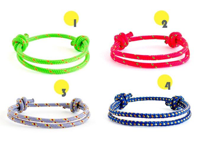 Friendship Bracelet, Woven Bracelet, String Bracelet, Long Distance Friendship Bracelet Set. 4 mm