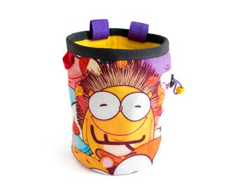 Awesome Chalk Bag XL, Cool Chalk Bags Climbing, Awesome Chalk Bag Handmade Designs For Rock Climbing And Bouldering. Large And Cute.