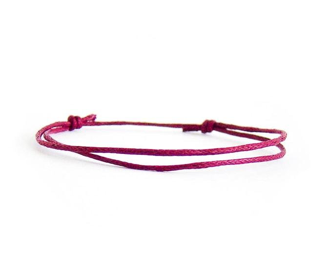 Vegan Bracelet, Vegan Jewelry, Vegan Gift Jewellery Mens Vegan Wrap Bracelet. 1 mm