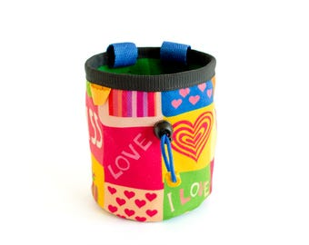 Chalk Bag for Climbing - Indoor Climbing, Trad Climb or Bouldering. Rock Climbing Gift for Woman, Lady, Size M