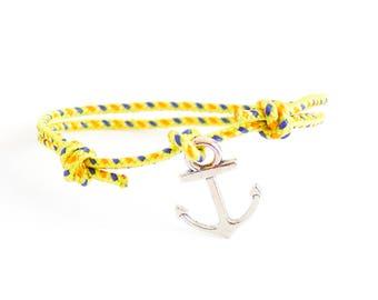 Navy Bracelet, Nautical Bracelet, Anchor Bracelet, Rock Climbing Jewelry with Anchor. 2 mm