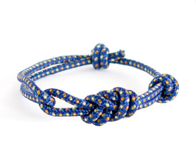 Infinity Bracelet Men, Mens Infinity Bracelet, Figure Eight Bracelet, Rock Climbing Jewelry. 3 mm