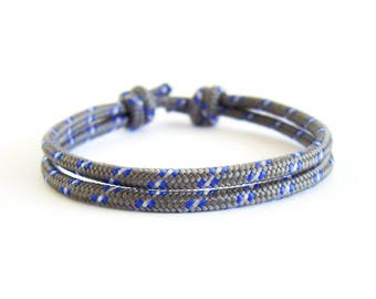 Simple Bracelet Men, Simple Bracelets For Guys, Simple Bracelet String Designs For Men, For Her. Woven Cord Paracord Survival Jewelry. 3 mm