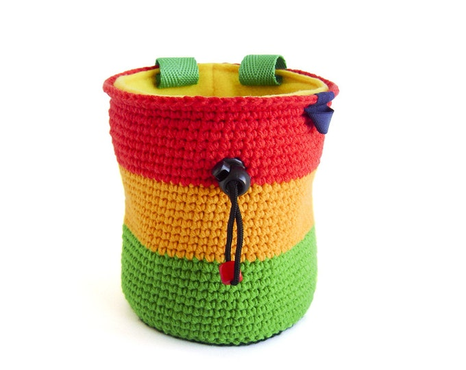Best Chalk Bag. Best Chalk Bags For Climbing, Top Chalk Bags Climbing Reggae, Rasta, Jamaica. M and L Size
