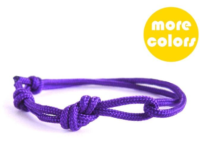 Mountain Bracelet, Mountain Girl Jewelry, Climbing Bracelet, Rope Bracelet, Unisex. 3 mm