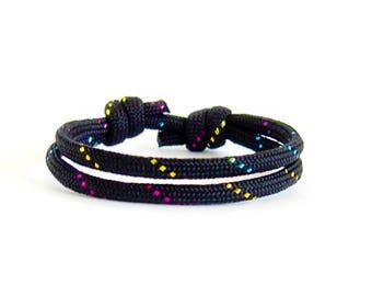 Sparkling Bracelet Jewelry, Sparkling Gifts, Sparkling Love Bracelet Knots. Make a Wishes Bracelets Kit, Tennis Fan Present. 4 mm