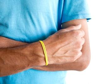 Wanderlust Bracelet Mens, Wanderlust Gift, Wanderlust Jewelry. Wrap String Bracelet Travel Jewellery Presents Idea. 3 mm