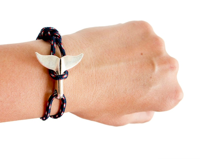 Whale Tail Bracelet, Whale Tail Jewelry, Whale Tail Hook Bracelet. Handmade Friendship Cuff Bracelet S to XL