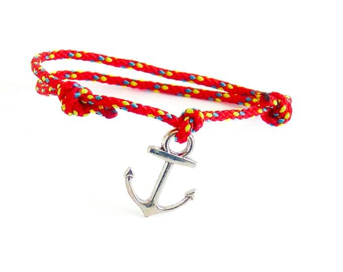 Men Bracelet, Mens Bracelet, Rock Climbing Jewelry, Anchor Bracelet