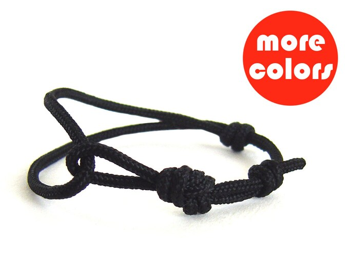 Infinity Bracelet for Man, Matching Best Friend Jewelry, Wish Friendship Accessories, Adjustable Rope Unisex Wristband. 3 mm