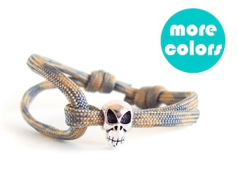 Skull Gifts For Him, Skull Bracelet For Men, Skull Jewelry, Skull Bracelets For Men. 4 mm