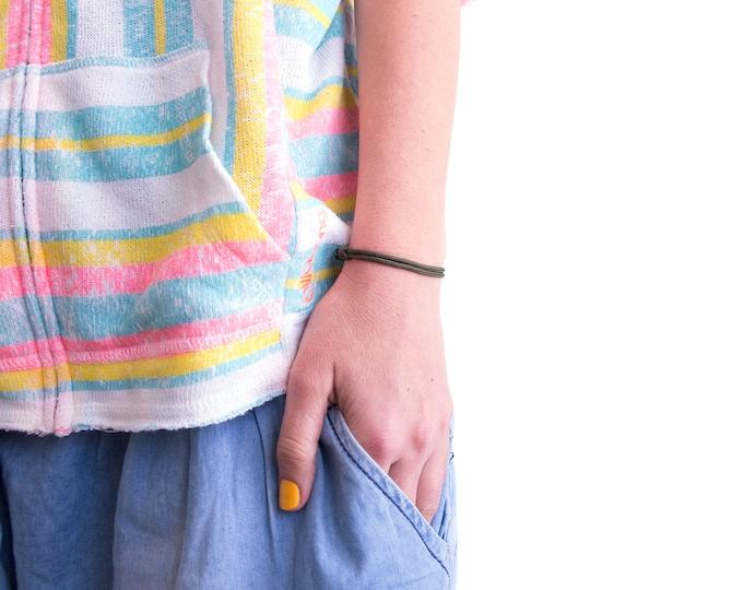 Simple Yoga Bracelet Adjustable Unisex. Mens Bracelet. 2 mm