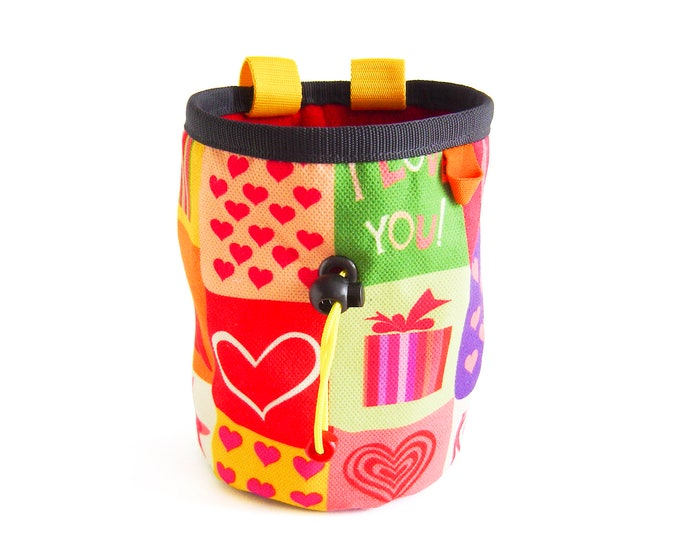 Chalk Bucket for Bouldering. Large Chalk Bag XL, Chalk Bucket for Climbing. Cool Big Rock Climbing Bag