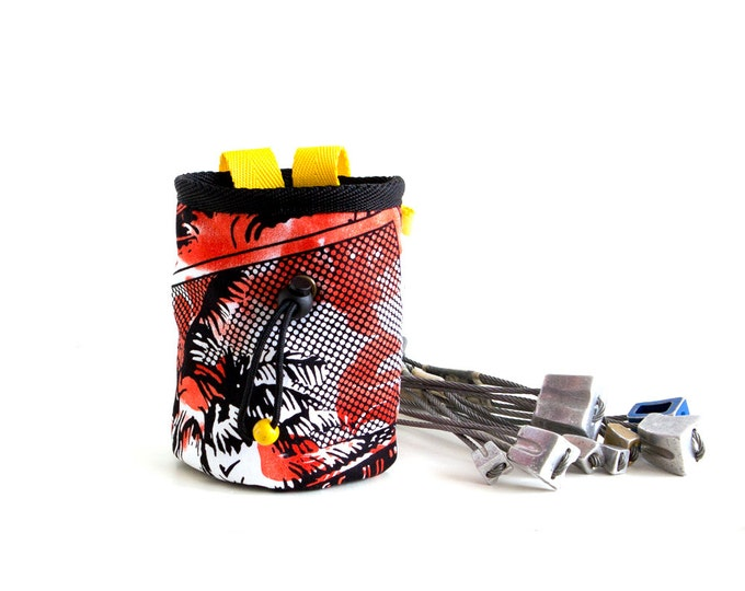 Chalk Bag With Pop Art for Rock Climbing. Trad Climbing Equipment M size